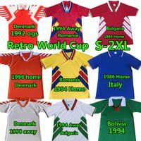 Retro BT Futbol Formaları Aly 1986 Bolivya Romanya Eve Uzakta 1994 Bulgaristan Danimarka 92 98 Ulusal Takım Vintage Klasik Futbol Gömlek