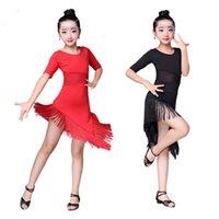 Latin dans elbise kızlar için balo salonu rekabet saçaklı elbiseler gatsby karnaval festivali parti sahne performans giyim