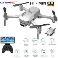 Cymarc H1 Mini DRONE 4K HD-Kamera 1080P Wifi FPV-Kamera-Drohne RC-Drohne Halten Faltbare RC-Quadkopter DRON M73 E88 201105