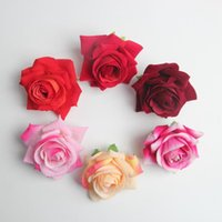 10 أجزاء الشمبانيا المخملية الاصطناعية روز الزهور هيد الزفاف ديكور