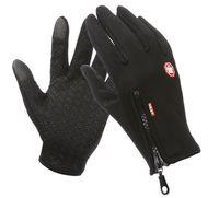 2021HOT Outdoor-Reißverschlusshandschuhe Herbst- und Wintermänner warme Wollhandschuhe Wolle und Frauen voller Finger Touchscreen rutschfest wasserdicht
