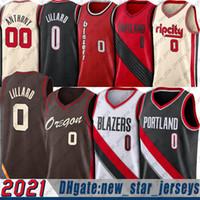 Damian 0 Lillard Jersey Carmelo 00 Anthony Trikots 2021 City Basketball Jerseys Weber State University Jersey