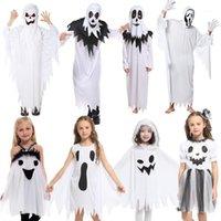 무료 배송 할로윈 어린이 의상 유령 세트 성인 어린이 공연 의상 엘프 복장 소년 소녀 유령 의류 1