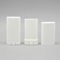 15g Plastik Boş Oval Dudak Balsamı Tüpler Deodorant Kaplar Temizle Beyaz Ruj Moda Serin Dudak Tüpleri