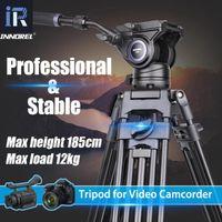 Tripods Innorrel VT80 Profissional Video Video Tripé Cabeça Hidráulica Cabeça Para DSLR Filmadora DV 1.85m 12kg