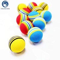 12шт красочные радуги EVA пенопластовые мячи для гольфа для крытых качелей обучения СПИДи синий желтый красный гольф практики мячей для начинающих1
