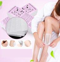 100pcs Depilazione depilazione depilatoria carta cerata strisce di ceretta di ceratura non tessuta epilatore striscia di carta rotolo bikini gambe body depilazione