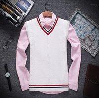 남성용 스웨터 Zogaa 가을 겨울 남성 겨울 남성 자켓 따뜻한 풀오버 민소매 O 넥 니트 조끼 Femme 패치 워크 슬림 캐주얼 스웨터 조끼