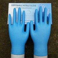 Vajilla disponible 50 pares de goma cómoda mecánico guantes de nitrilo examen ESD seguro para teléfonos celulares PCB Tableros de circuitos Rep1