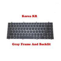 Klavyeler KRA LA FR Klavye CLEVO W230ST MP-13C23K0J430 MP-12R73K0-430 için 6-80-W2300-110-1 Kore 6-80-W5470-06-16-80-W5470-160-1z çerçeve1
