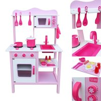 Fashion Wood Kitchen Toy Kids Cooking Pretend Play Set Toddl...