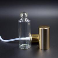 Frascos de perfume de 5ml de viagem com frascos de pulverizador vazios do pulverizador com tampão de pulverizador de névoa de ouro de prata em estoques
