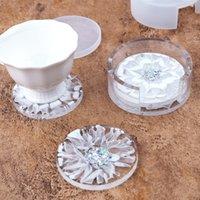DIY Epoxidharz Silikonformen Weiß Kreiskristall Tropfenkleber Hitzebeständige Untersetzer Runde Aufbewahrungsboxen Form Transparent Neue 9 5RH M2
