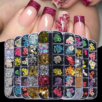 Fiori secchi Nail Art Kit Dry Mini Real Ear Natural Flowers Nail Art Forniture 3D Applique Nail Decoration Adesivo per i consigli Decorazione manicure