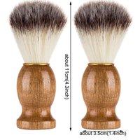Barber Cheveux Shafing Beard Brosses Barbouins Naturel Poignée en bois Barbouette Cadeau Portable Barber Outil Hommes New Beauty Tool Mens Fourniture VTKY2201