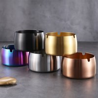 Stainless Steel Ashtray With High Windproof Titanium Plating...
