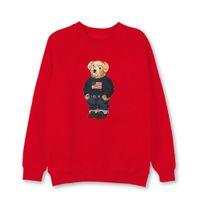 Trendy baskı ayı t-shirt polo gömlek uzun kollu kazak erkek tasarımcı moda yuvarlak boyun rahat giyim