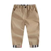 2020 Mode Trend Frühling Kinder Jungen Marke Plaid Pants Casual Herbst Infant Kinder Kleidung Hohe Qualität Neugeborene Baby Sportshose