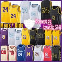 Los 8 24 Angeles Jersey de basketball 23 Carmelo 00 Anthony 32 34 NCAA Mens Jerseys 2021 Manga noir 3 Davis Kyle 0 Kuzma Alex 4 Caruso