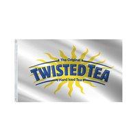 Twisted Tee Weiße Flagge 3x5 ft Große lebendige Farbe und UV Fade Resistant-Twisted Tee Banner Toll für College-Schlafsäle Zimmer