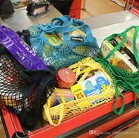 Bolsa de comestibles de color 14 Reutilizable Gran tamaño Compras Comprador Tote Malla neta Tejido bolsas de algodón portátil Home StorageHMNF