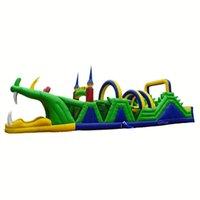 Suprimento de jardim Aluguel de Obstáculo Inflável Curso de Obstacless Crocodilo Para Venda Comercial PVC Gigante Obstáculos Cursos Kids Playground Game w / ventilador de ar