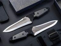 Promosyon Japonya Güçlü Survival Düz Bıçak D2 Damla Nokta Saten Blade Tam Tang G10 + Kydex ile Karbon Fiber Kolu