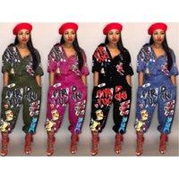 여성 디자이너 Jumpsuits rompers 짧은 소매 playsuit 원피스 바지 jumpsuit 여성 의류 슬림 바지 레깅스 패션 편지 인쇄 KLWJ2