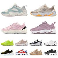 جديد Nike M2K Tekno off white   2021 M2K Tekno الاحذية الرجال النساء مكتنزة الأزياء أحذية رياضية أبيض أسود برتقالي أزرق نقي البلاتين الشراع الجو رمادي أسود المدربين