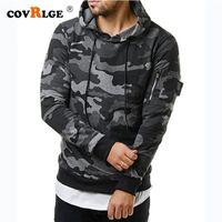 Covrlge Mens Hoodie 2019 탑 판매 위장 슬림 스웨터 까마귀 캐주얼 패션 Homme Streetwear 남자 MWW1631