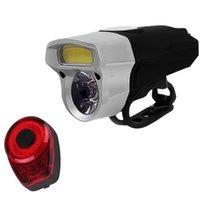 Bicicleta luz de bicicleta impermeável frontal frontal luzes traseiras espiga de luz noite passeio de segurança de segurança taillight