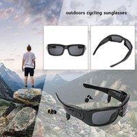 Bluetooth inalámbrico Mini cámara DVR Video Sunglasses HD 1080P Cámara de acción Gafas con auricular, Soporte TF Hidden TF1