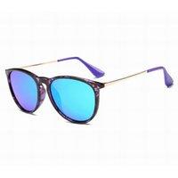 Moda Güneş Erkekler Kadınlar Sunglass Erika Tasarımcı Güneş Gözlükleri Erkek Degrade 4171 Lensler Marka Gözlük Metal Çerçeve Mat Siyah