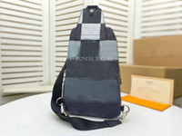 Mens Luxurys Designers Sacos Damier Graphite Giant Avenue Graduado Cor Crossbody Bag Trend Bag Peito Body Body Couro Backpack