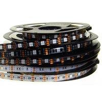RGB LED 가벼운 스트립 5V SMD 5050 5M 150LEDS 300LES 블랙 화이트 PCB 방수 TV 백라이트 5 V LED RGB 스트립 라이트 테이프 램프