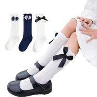 crianças 0-5T meias meias altas inverno grande do lado de veludo bowknot projeto joelho longo para meninas botas crianças Xmas