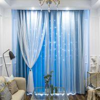 Hollow Out Star Blackout Cortina para quarto sala de estar cortina acabou cortinas princesa crianças sala f1218