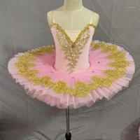Ballet profesional Tutu para niños niños niños Panqueque adulto Tutu Tutu Mujeres Swan Lake Costume Baallerina Party Ballet Dress Girls1