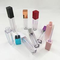 10 pz / lotto Quadrato trasparente di plastica del rossetto Tube fai da te Lip Gloss Contenitori bottiglia Vuoto Tubo di contenitore cosmetico vuoto Tubo Lipgloss