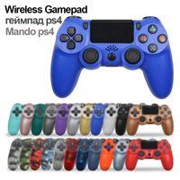 Wireless Bluetooth PS4 Gamepad Controller ABS Joystick per DualShock 4 Mando De console Inambrico Original Manette Sans Fil Y0114