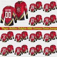 라스베가스 황금 기사 Retro Jerseys 29 Marc Andre Fleury 75 Reves 71 Karlsson 61 Stone 모든 번호의 모든 이름 Hockey Jersey