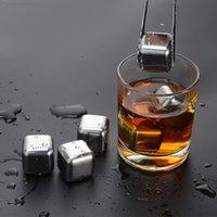 Whisky in acciaio inox Whisky Ice Cube Pietre Vino Birra Rock Refrigeratore Non-tossico Festa sana Bar KTV bevande Forniture