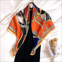 Women Scarf for Ladies Silk Hand Rolled Scarf 90 Animal Print Woman Neck Foulard Luxe Headwrap
