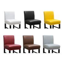 Водонепроницаемая крышка стула эластичный сплошной цвет женщина мужчина поставляет украшения устойчивые устойчивые рукава живущая мебель 13nwk2