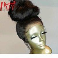 Parrucca di capelli umani indiani indiani PARAC parrucca dei capelli umani 360 parrucca frontale del pizzo con capelli del bambino pre-strappato capelli remy naturale nero
