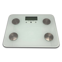 150kg Smart Body Fat Bites Bilance Stripe Pattern 6mm Glass Digital Schermo LCD elettronico F18-01