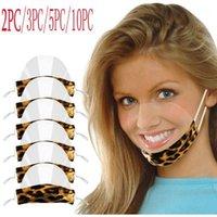 Maschere per feste Lingua Lip Language Visual Trasparente Stampato PVC Mascarillas Mondkapjes Wasbaar Halloween Cosplay Masque Lavibile Cubre Bocas1