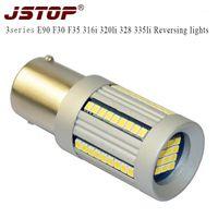 JSTOP 3Series E90 F30 F35 316i 320LI 328 335LI светодиодные реверсивные огни P21W 6000K Светодиодная лампа 12V BA15S 1156 AUTO CANBUS REVERIC