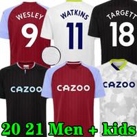 Aston Soccer Jersey 20 21 Home Grealish M.Trezeguet Wesley El Ghazi Hourihane Douglas McGinn Barkley Watkins Villa 2020 2021