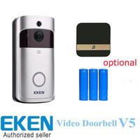 Eken WiFi Video-Türklingel V5 Smart Home Türglocke Glockenspiele 720P HD-Kamera Echtzeit-Video-Zwei-Wege-Audio-Nachtsicht PIR-Bewegungserkennung
